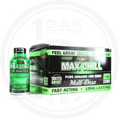 Hemp Bombs CBD Max Chill Relaxation Shot 75mg 2oz